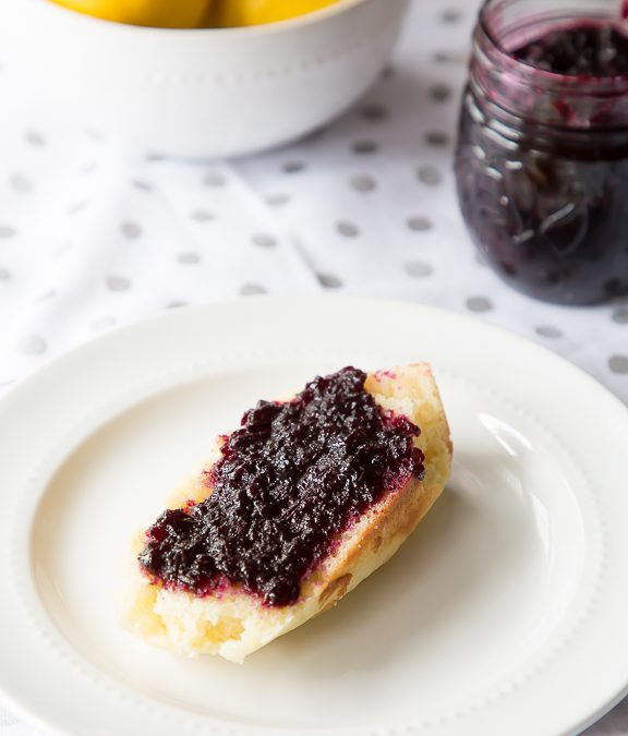 Lemon Olive Oil Bread with Blueberry Balsamic Jam